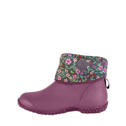 Women's Muckster Mid Purple Floral Muck Boots