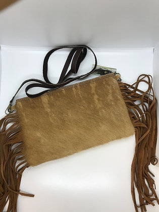 Cowhide with fringe Crossbody Purse