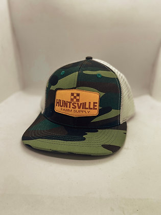 Huntsville Farm Supply Camo Leather Patch