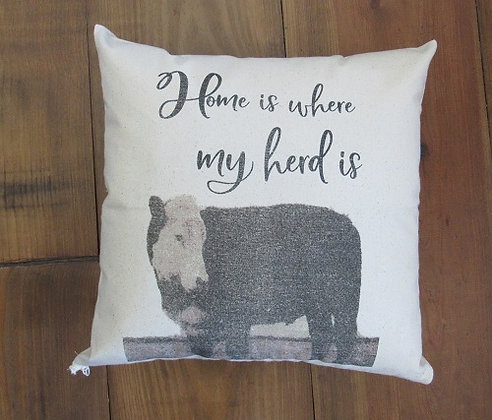 Pillow Case Home Is Where