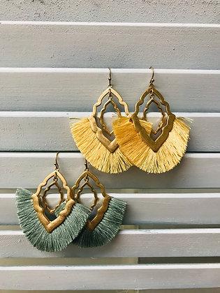 Thread Tassel Ornate Earrings