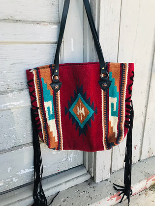 Revamped Navajo Purse-Maya Red