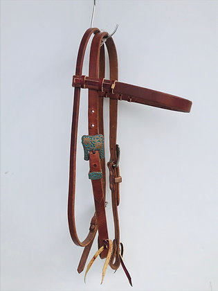 Copper Patina Browband Headstall