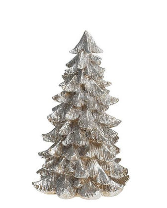 Silver & Gold Resin Christmas Tree