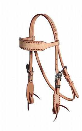 Latigo Buckstitched Roughout Browband Headstall