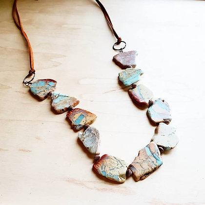 Aqua Terra Slab Necklace