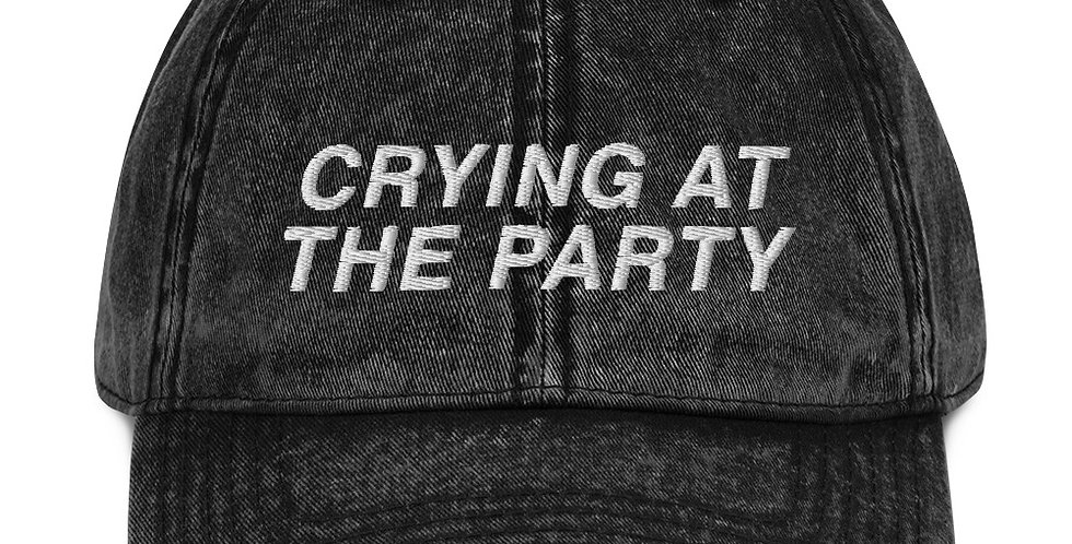 Crying at the Party Dad Hat