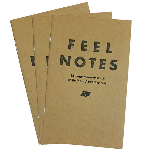 3-Pack 'Feel Notes' Pocket Notebook