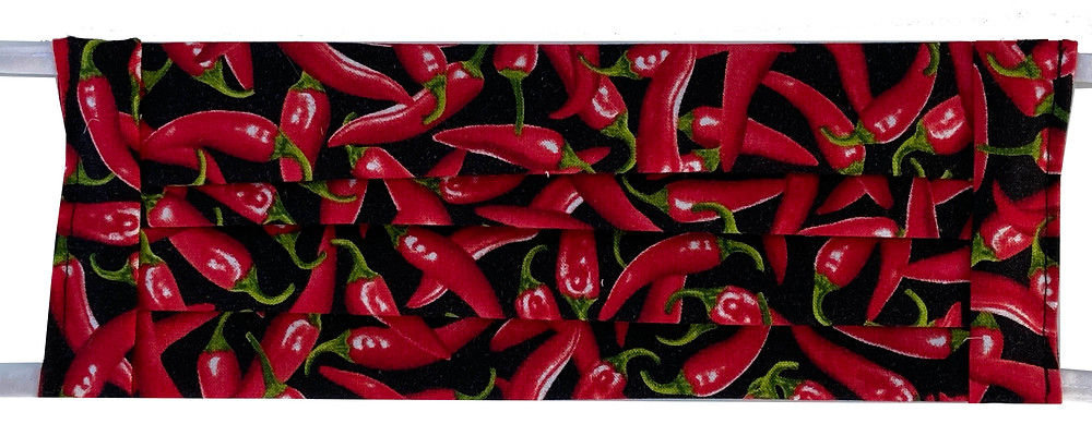 red chile fabric face mask