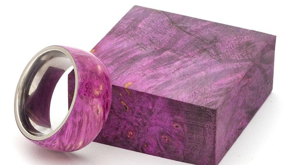 Purple Dyed Box Elder Burl