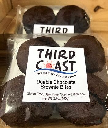 GLUTEN FREE Double Chocolate Brownie Bites