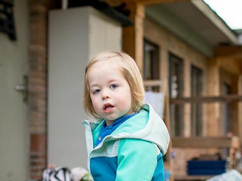 Little Girl Entering School