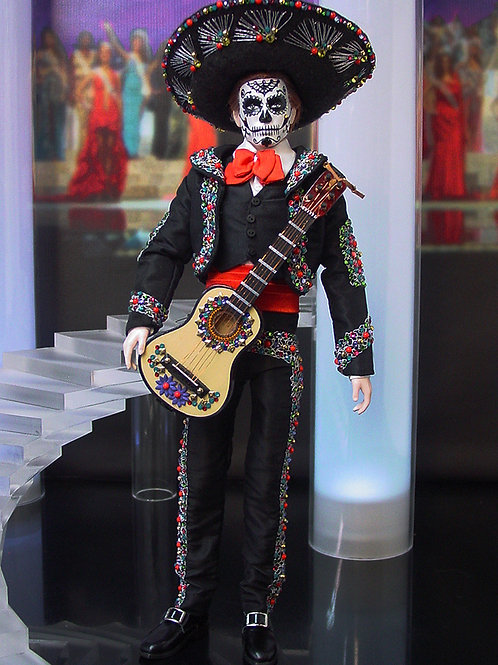 Mexico Mariachi Day of the Dead Ken