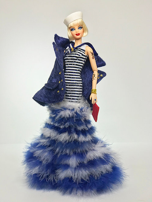 Couture Navy Duo Barbie