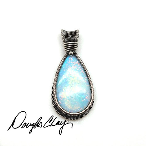 Sterling Opal Pink & Blue - Lab Cultured Opal