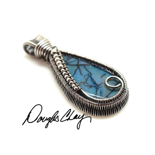Sterling Opal Blue with Black Matrix