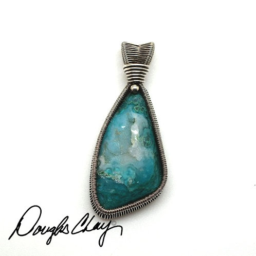 Gem Silica Chrysocolla with Gorgeous Crystal Druzy Pocket