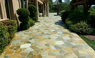 Natural Stone Thin Veneer walkway and landscaping