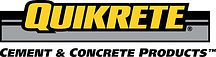 """Quickrete logo with text that reads """"Cement and Concrete Products"""""""
