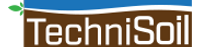 TechniSoil logo with green plant accent