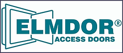 Elmdor Access Doors logo with drawing of a safe