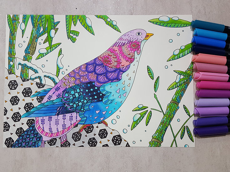 ZIG Kaleidolines Coloring Sheet