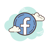 stylised facebook icon