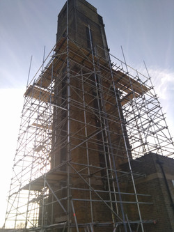 Hand demolition of 30 m chimney
