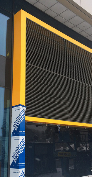 Aluminum grille for facades FG from Kungsprofiler