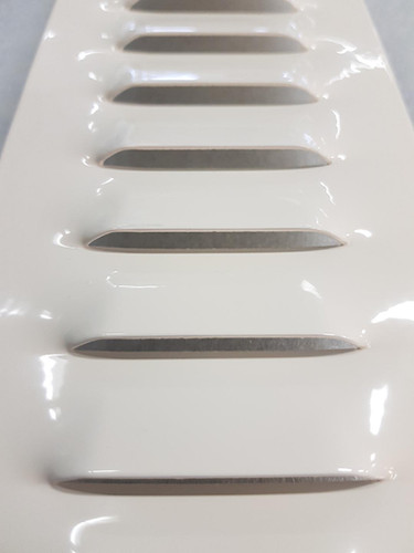 Aluminum grille with punched gills from Kungsprofiler
