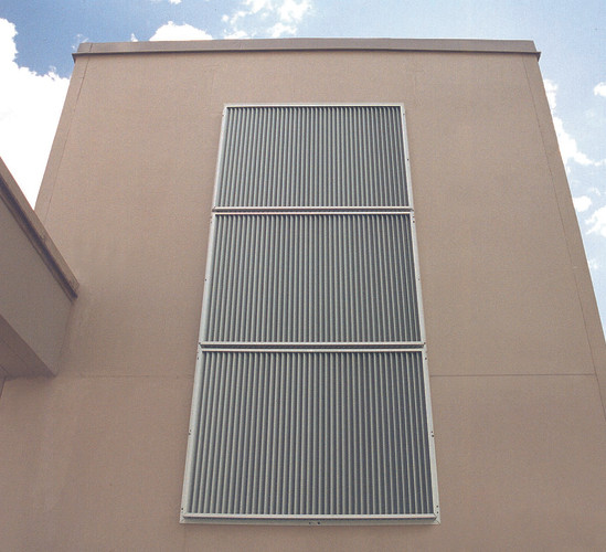 Aluminum grille for facades YGU from Kungsprofiler