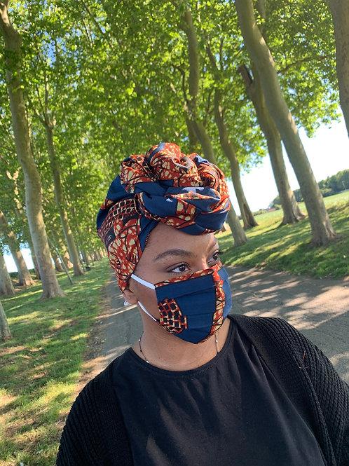 Maré Tet (foulard de tête) et son masque