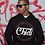 """Thumbnail: CB """"Mantra"""" Pullover Hoodie - Blk/Red/Wht"""