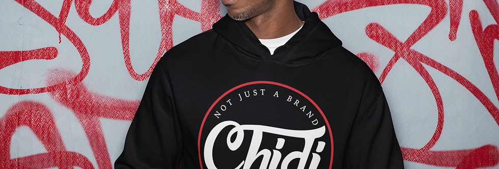 """CB """"Mantra"""" Pullover Hoodie - Blk/Red/Wht"""