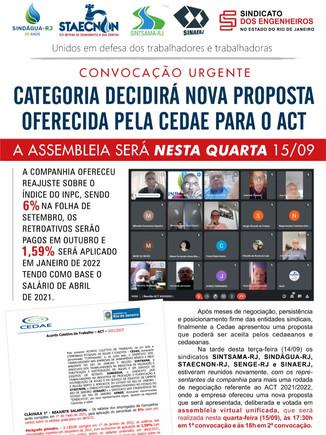 Categoria decidirá nova proposta oferecida pela Cedae