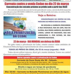 Carreata contra a privatização da Cedae no dia 22