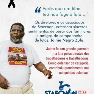 Homenagens da Asinea e Staecnon ao companheiro Jaime Henrique