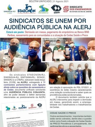 Sindicatos se unem por audiência pública na Alerj