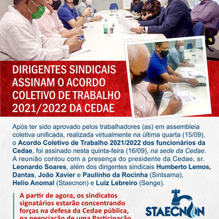 ACT da Cedae 2021/2022 assinado