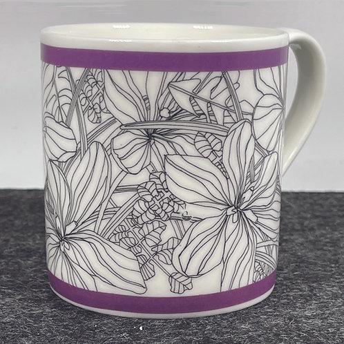 Wildflower Purple Bone China Mug