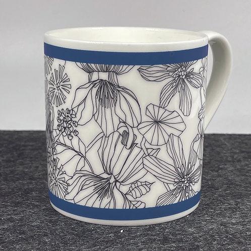 Wildflower Smoky Blue Bone China Mug