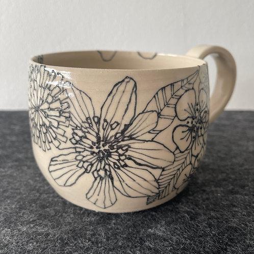 Large Wildflower Dandelion Mug