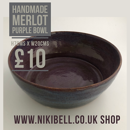 Handmade Merlot purple bowl