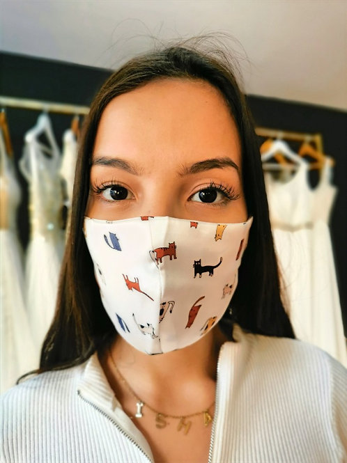 Mascara de satin anti acne animalitos