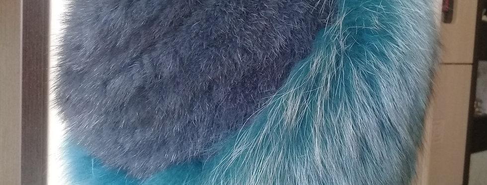 Зимняя меховая шапка Норка и Песец.
