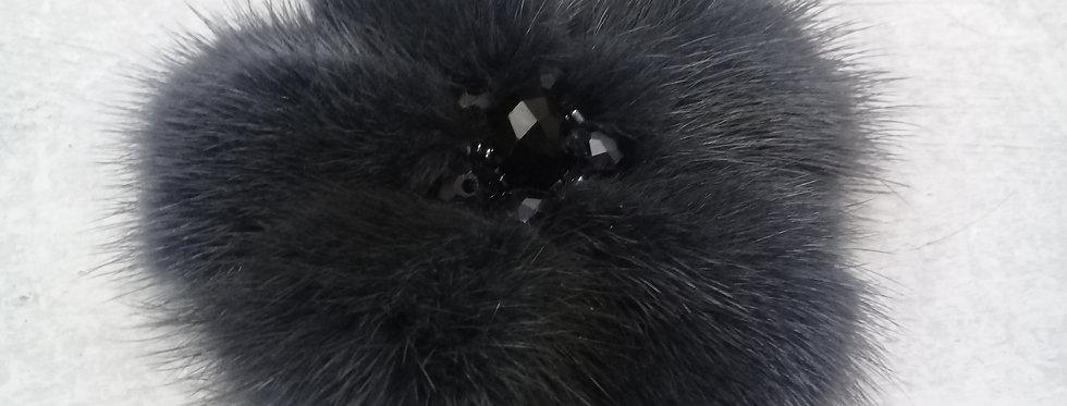 Норковая брошь, меховая брошь, fur brooch