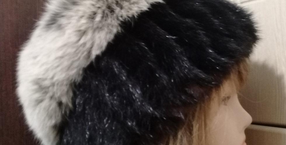 Вязаная норковая шапка. Натуральный мех. Ручная вязка.