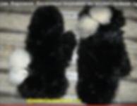 Вязаные норковые варежки.Вязание мехом. Вязаная норка. Мех лисы и чернобурки. Женские шапки. Работы Милы Федюковой, интернет-магазин и мастер класс.