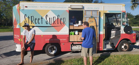Food Truck Event in the Park during covid