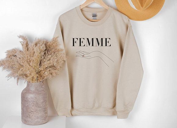 Femme Crewneck   Limited Edition Tan